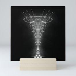 Cosmic Meditation Art Minimalist Design Spiral Pattern Mini Art Print