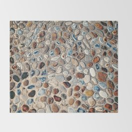 Pebble Rock Flooring II Throw Blanket