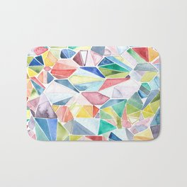 stained glass Bath Mat