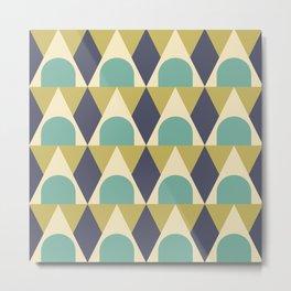 Elegant Art Deco Geometric Pattern 312 Metal Print