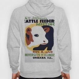 Vintage poster - 14th Illinois Cattle Feeders Meeting Hoody