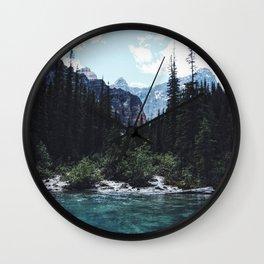 Glacier Creek, Moraine lake Banff Wall Clock