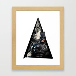 Youtriangle ∆ Batmann Framed Art Print