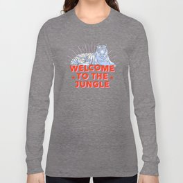 welcome to the jungle - retro tiger Long Sleeve T-shirt