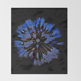 Dew On Dandelion, Wild Mandala Throw Blanket