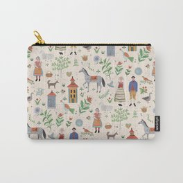 Swedish Folk Art Carry-All Pouch