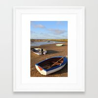 rowing Framed Art Prints featuring Rowing Boats by Jude NH