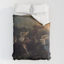 Peter Nicolai Arbo The Wild Hunt Of Odin Restored Comforters