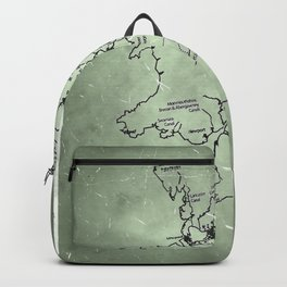 aged canal map Backpack