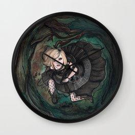 Avril in Wonderland Wall Clock