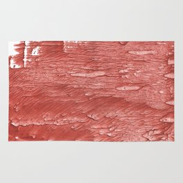 Brick red nebulous wash drawing paper Rug