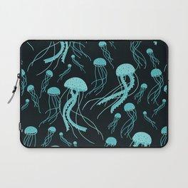 Bioluminescent Jellyfish Swarm Laptop Sleeve