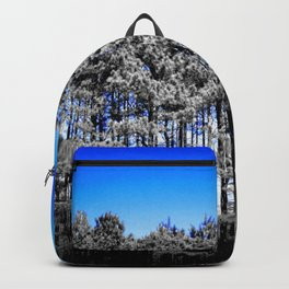 Gray Trees Electric Blue Sky Backpack
