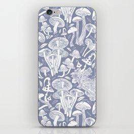 Delicious Autumn botanical poison IV // blue grey background iPhone Skin