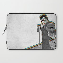 Johnny Cash Sugar Skull // Digital // Mixed Media Laptop Sleeve