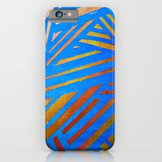 Geometric Blue iPhone 6s Slim Case