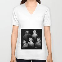 fifth harmony V-neck T-shirts featuring Fifth Harmony 'Reflection' Digital Painting by Emilia Apreda