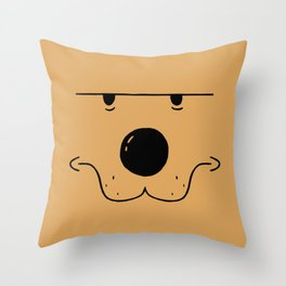 Skeptic Gaze Throw Pillow