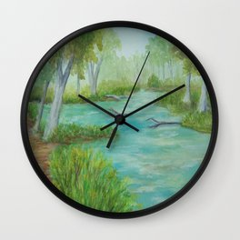 Little Manistee River MM120824a Wall Clock