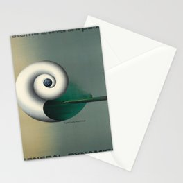 Plakat general dynamics latome au service Stationery Cards