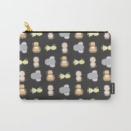 Jungle Animals - Black Carry-All Pouch