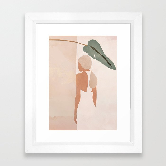 Abstract Woman in a Dress Framed Art Print