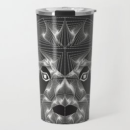 Panda bear Black and white Zentangle Travel Mug