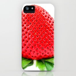 Srawberry on White iPhone Case