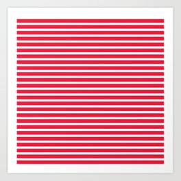 Red Stripes Art Print