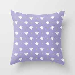 Diamonds - purple pattern Throw Pillow