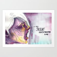 A Tired Silent Scream for Help Art Print