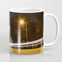 broadway Mugs featuring Broadway night blur by RMK Creative