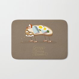 Grumpy Herring Sandwich Bath Mat