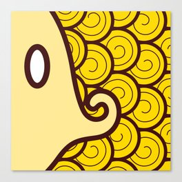 Niji Sakana (Yellow) Canvas Print