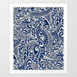 Hawaiian tribal pattern III Art Print