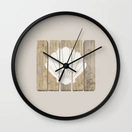 Seashell Clam Wall Clock