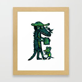 Cajun Gator Framed Art Print