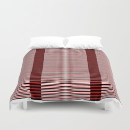 Black and red lines background Duvet Cover