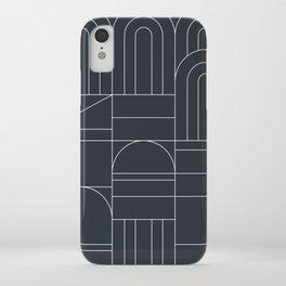Deco Geometric 04 Black iPhone Case