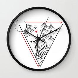 Triangle Tree Wall Clock