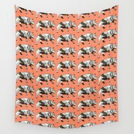Run with the Rhinos Wall Tapestry