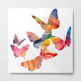 Orange Butterflies Metal Print