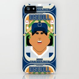 Baseball Blue Pinstripes - Deuce Crackerjack - Indie version iPhone Case