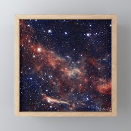 Vermilion Nebula Framed Mini Art Print