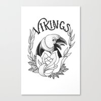 vikings Canvas Prints featuring Vikings by Christiano Mere