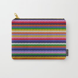Knitted colorful lines Carry-All Pouch
