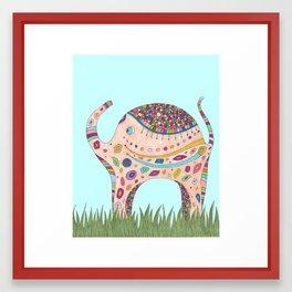 Elephant Walk Framed Art Print
