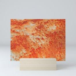 Red Rust Textures 4 Mini Art Print