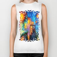 fandom Biker Tanks featuring The 10th Doctor who Starry the night Art painting iPhone 4 4s 5 5c 6, pillow case, mugs and tshirt by Three Second