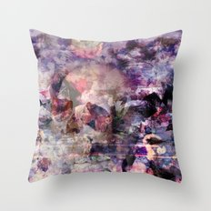 purple skull was here. Throw Pillow